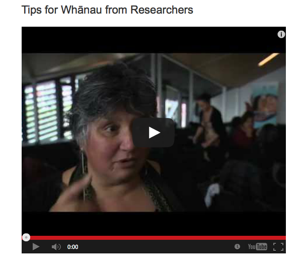 Tips for whānau from researchers whānau ora